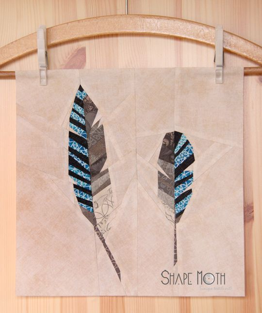 Shape Moth Feathers Forest Qal Paper Piecing