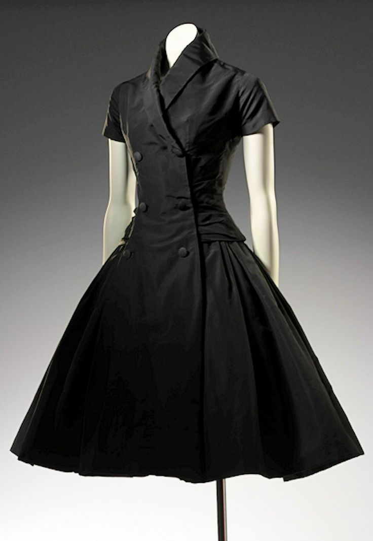 Christian Dior Zelie Cocktail Dress 1954 Fall Winter