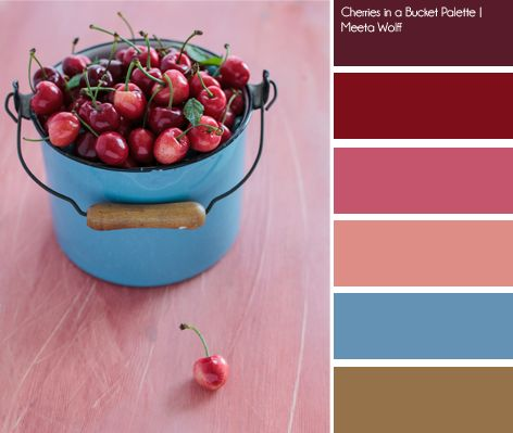 Cherries in a Bucket Palette | Meeta Wolff