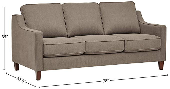 Amazon Com Stone Beam Blaine Modern Sofa Bed Fabric 78 W