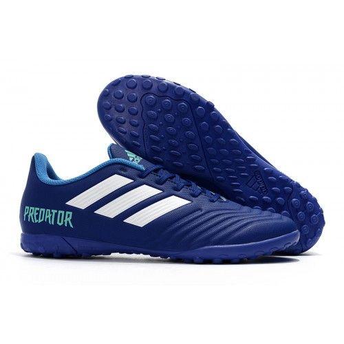 premium selection 8169d 0bcbc Botas De Futbol Sala Comprar adidas Predator Tango 18.4 TF Blue Blancas  Tienda Online