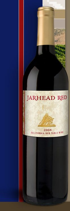 Jarhead red. This wine provides educational assistance to the children of US Marines