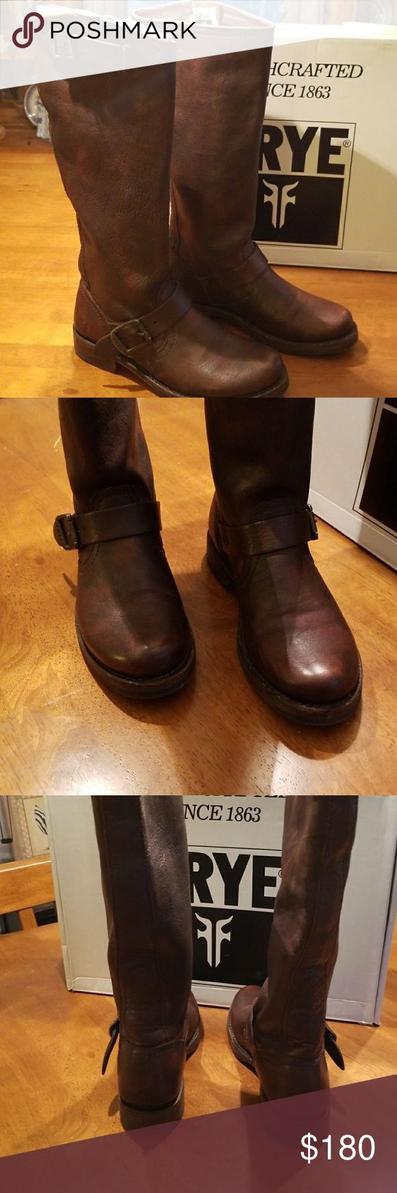 FRYE Veronica Slouch Dark Brown  Knee Boots FRYE  Veronica Slouch Dark Brown Knee  Boots.  Only wore one  time. Frye Shoes Heeled Boots