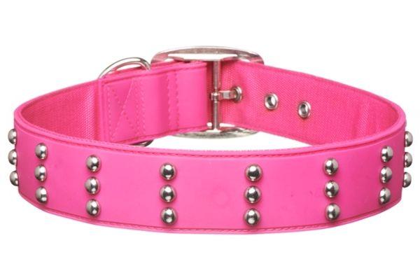 Gummi Pets Dog Collar Pink w/ Stud Non-toxic rubber NEW