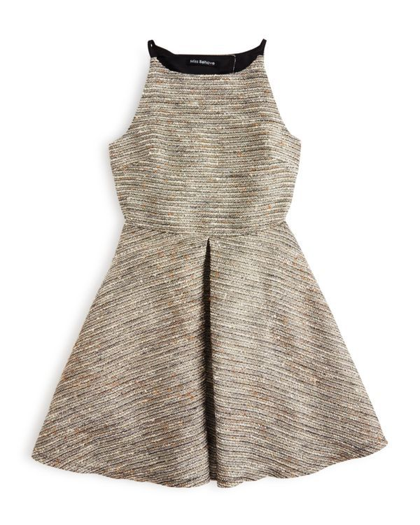 Miss Behave Girls' Tweed Dress - Sizes S-xl