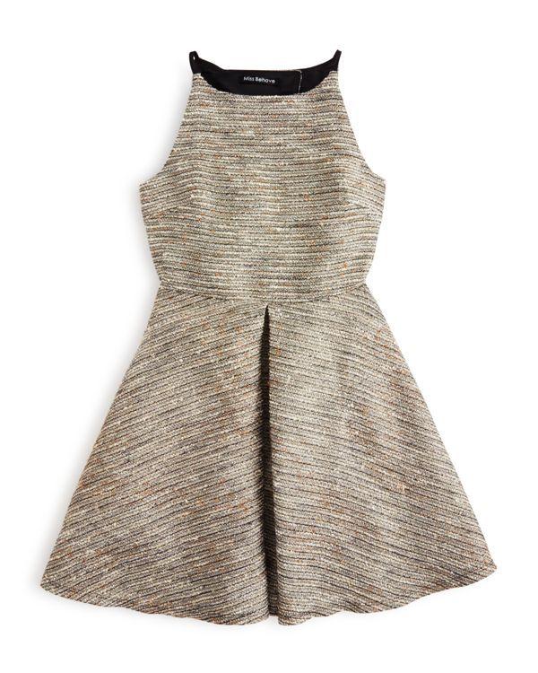 Miss Behave Girls' Tweed Dress - Sizes S-xl