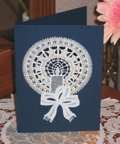 Advanced Embroidery Designs - FSL Battenberg Candle Lace.