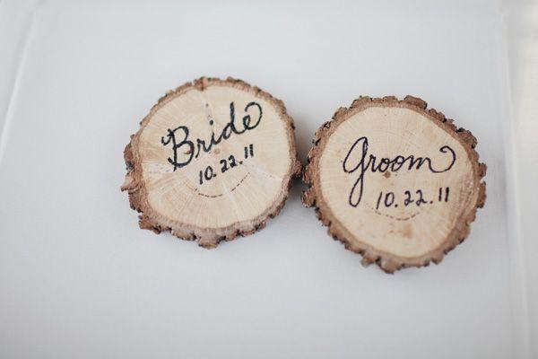 wood slice escort cards | Landon Jacob