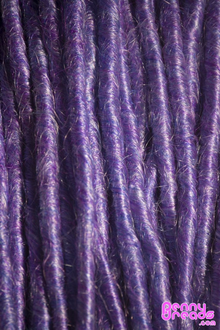"Lavender / Blue 24"" U-Tip Synthetic Dreadlocks (10 pieces) - 100% Kanekalon. – Penny Dreads & Wigs"