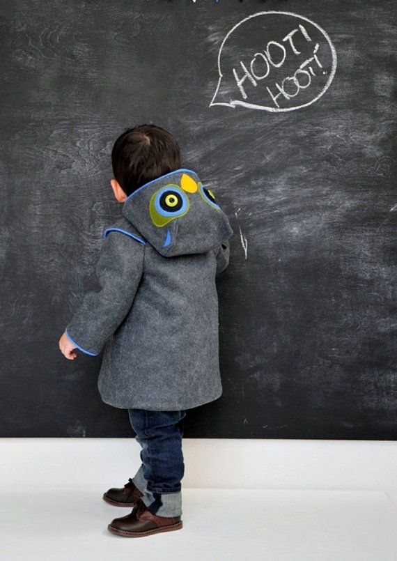 Little Grey Owl Boys Coat by littlegoodall on Etsy, $155.00  Wish this was for grown ups :)