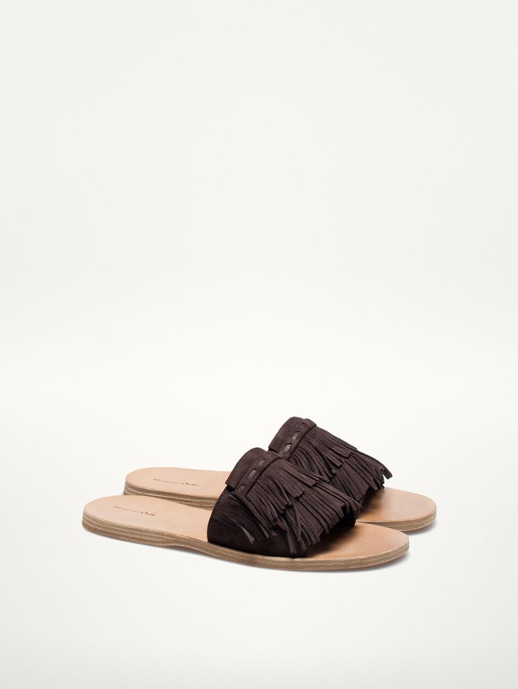SANDALS WITH FRINGED VAMP