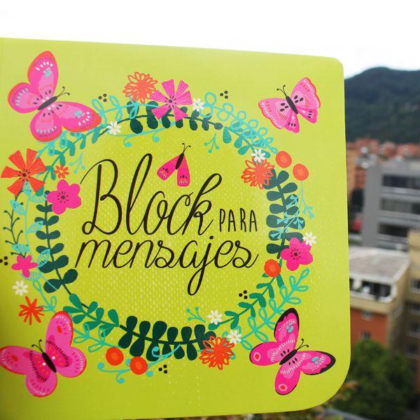 Block para mensajes Mariposa. Cómpralo en www.hojas.com.co
