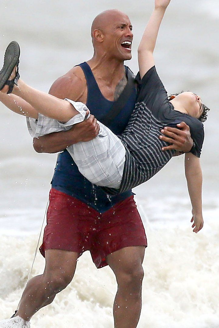 Dwayne Johnson Showcases His Bulging Muscles While Saving a Boy From Drowning in the Ocean