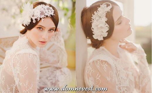 украшения прически невесты в стиле ретро