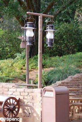 Rustic Lamp Posts Rustic Lamps Outdoor Decor Magic Kingdom
