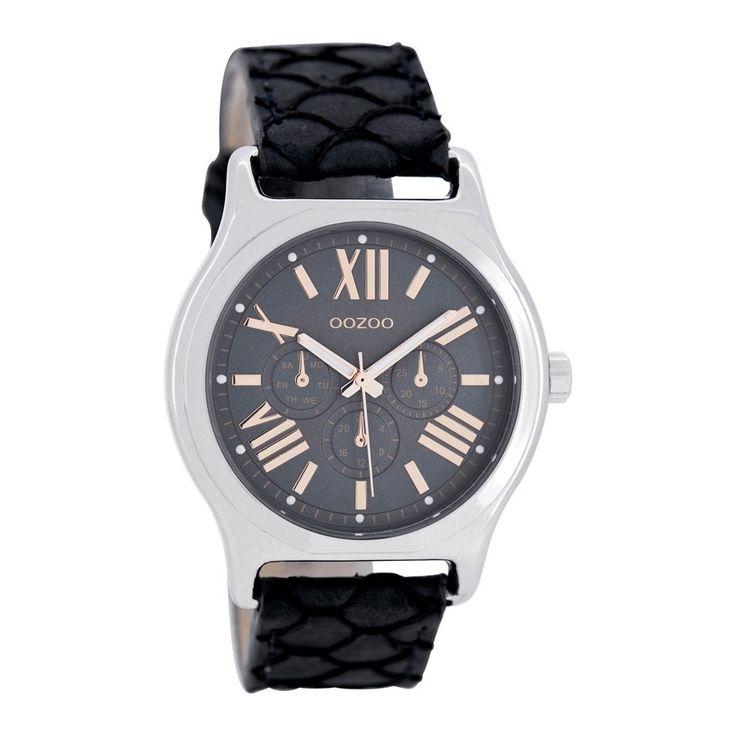 OOZOO Timepieces Dark Blue Snake horloge C7612