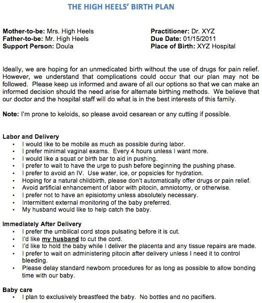 21 best birth plan templates examples images on pinterest birthing plan birth plans and pregnancy. Black Bedroom Furniture Sets. Home Design Ideas
