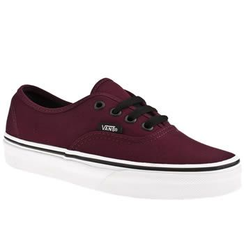 Women's Burgundy Vans Authentic. if anyone ever wants to buy me a random gift ;)