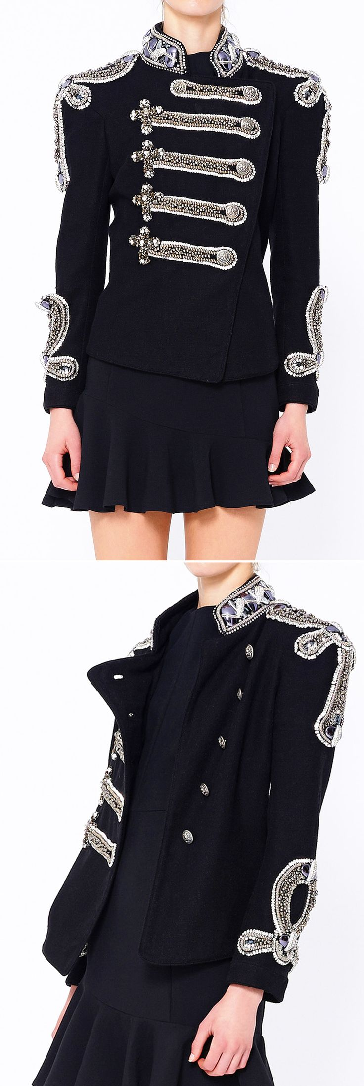 The coat is perfect, though it would not be very practical to wear such a short skirt.