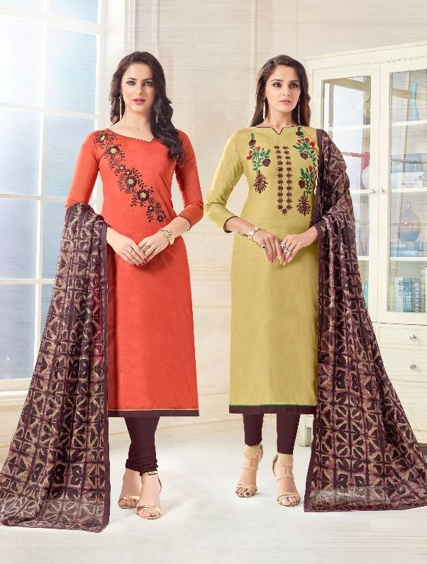 1f2457e6b5 AVC Eena Meena Vol 9 Chanderi and Cotton Two Top Dress Material Collection  at Wholesale Rate | Pakistani Salwar Kameez Wholesaler in 2019 | Dresses,  ...