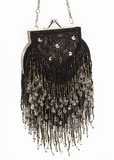 Victorian Evening Bag - Vintage Style Crystal Bead $59.95
