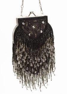 Victorian Evening Bag - Vintage Style Crystal Bead
