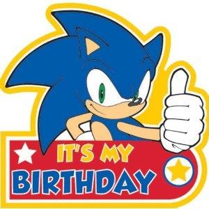 Sonic The Hedgehog Birthday Badge: