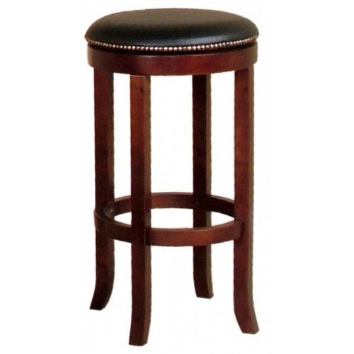 "Just Cabinets Furniture and More Cappucino 30"" Swivel Bar Stool with Cushion"