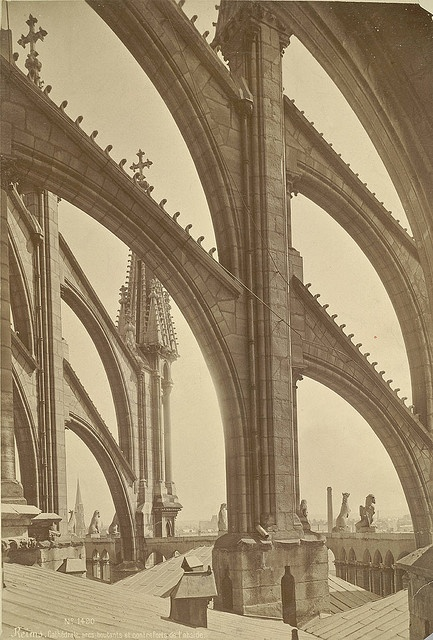 All sizes | Reims Cathedral. Flying Buttresses, via Flickr.