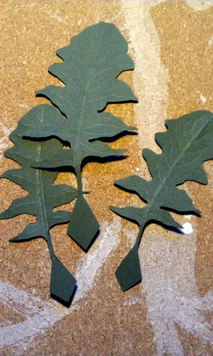 Paper leaves making-of - Da foglio nasce foglia - #paper #leaves #flowers #paperflowers #handcraft