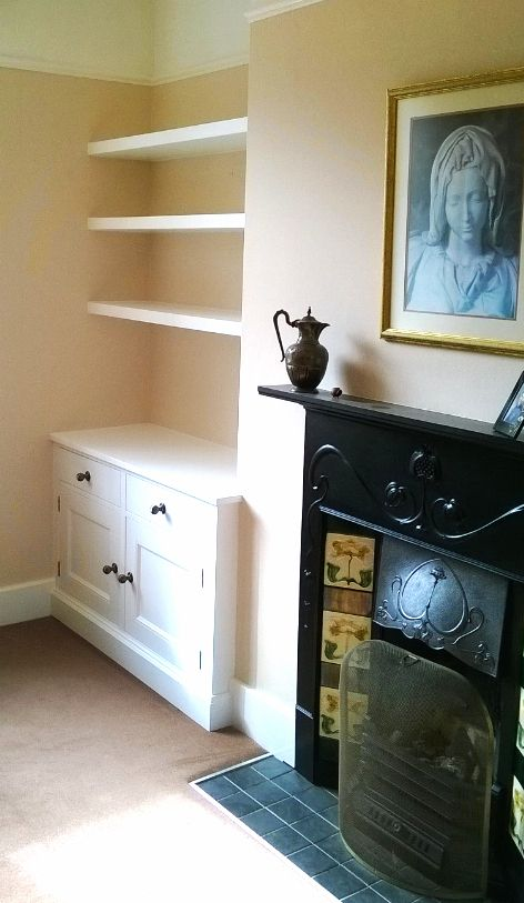 Living room furniture.Fitted Alcoves. Alcove Cabinets. Bespoke alcove unit @ gillmartinez.com Manchester.