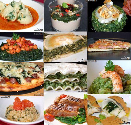 12 receptes amb espinacs