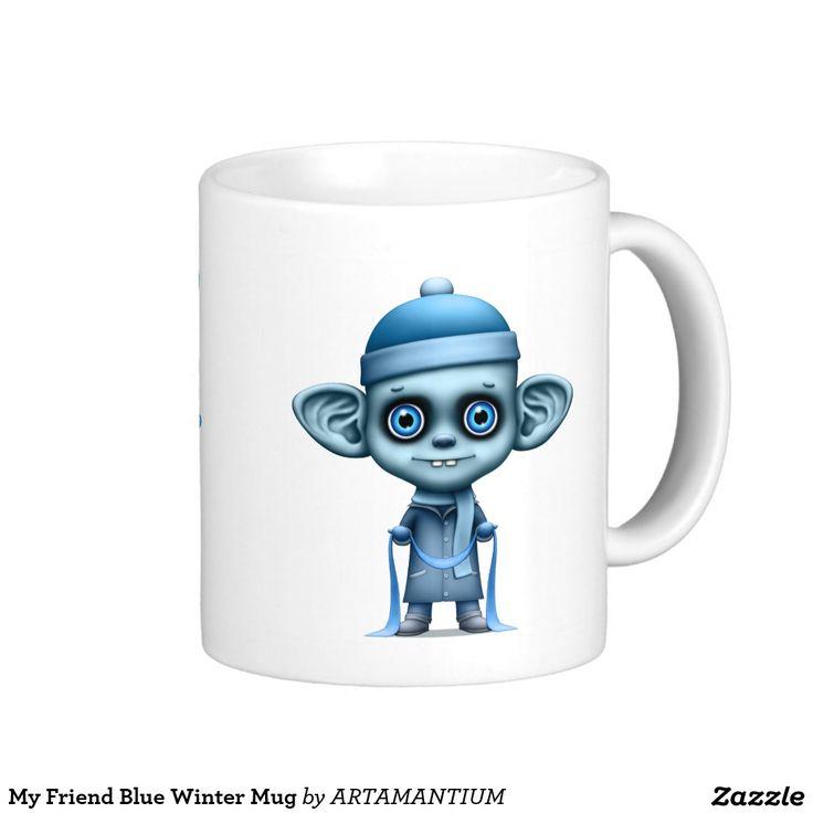 My Friend Blue Winter Mug