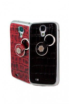 #Samsung #Galaxy #S4 #Grabado cocodrilo #Cocodrilo #Colores #Rojo #Negro #Carcasa #Finger360             #Anticaída