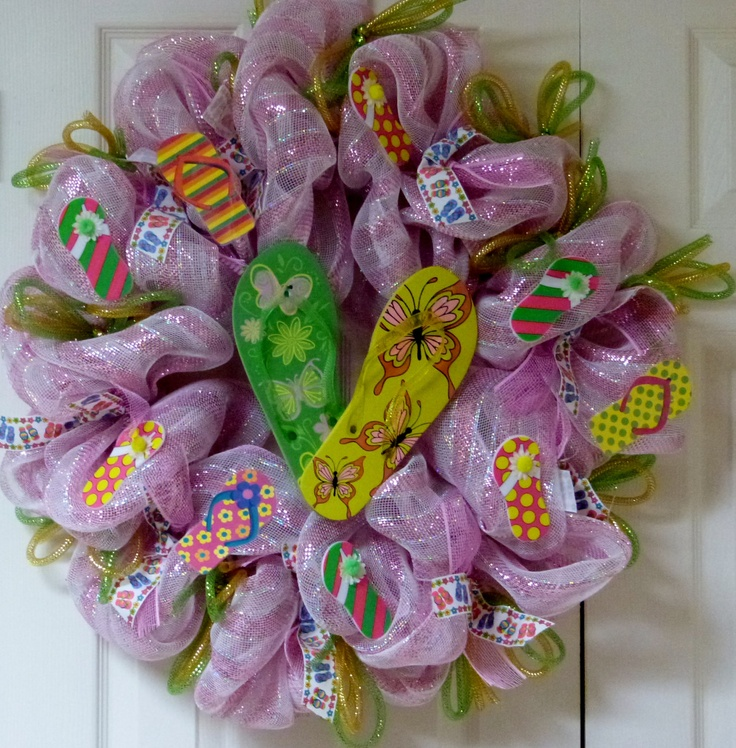 Pinterest Wreaths | spring and summer mesh wreaths - Wizard 101 new world