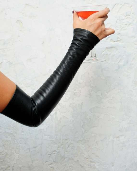 These Leather Sleeves are Perfect Cold Weather Layering Pieces #mittens trendhunter.com