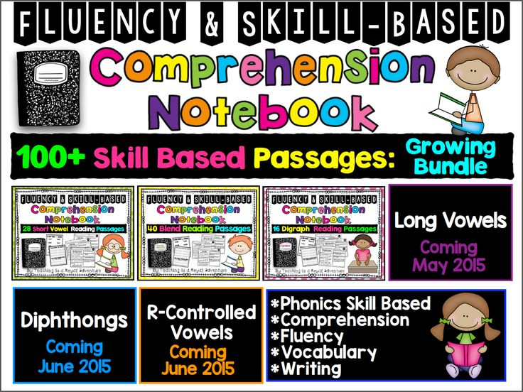 * Phonics   * Reading Comprehension  * Fluency  * Vocabulary  * Writing    What is included?   * 125 skill based reading passages  * Word Sort for each pattern  * Writing Activity for each pattern