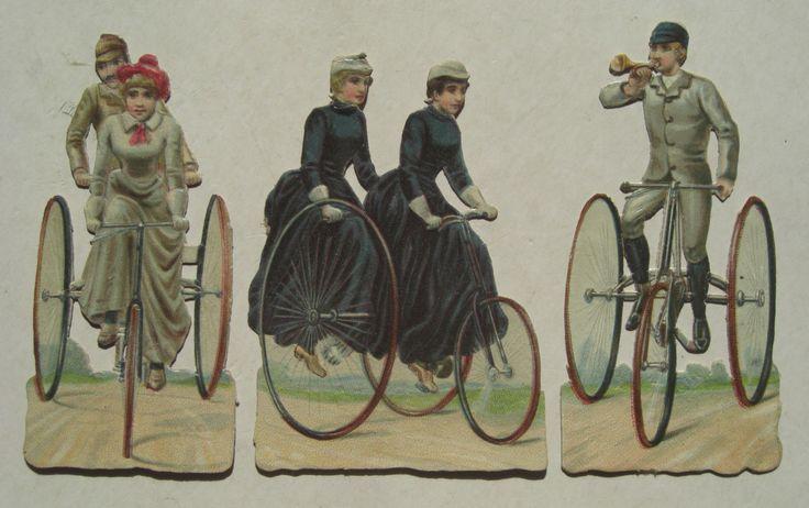 Oblate 1890 Fahrrad penny farthing Hochrad antique bicycle velo ancien die cut | Sammeln & Seltenes, Büro, Papier & Schreiben, Papier & Dokumente | eBay!