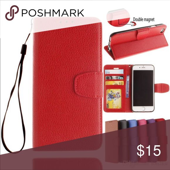 iPhone 7 Case Wallet Combo New Red New ~~ PU Leather  Offers welcome, please keep in mind Poshmark keeps 20% so be reasonable  I offer 25% off bundle of 3 plus item  Please let me know if you have any questions Bags Wallets