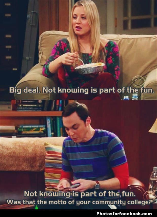 Humor   Big Bang Theory   Community College