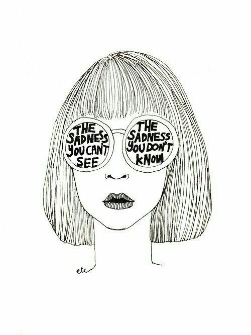 D Line Drawings Quote : Best ideas about sad girl art on pinterest