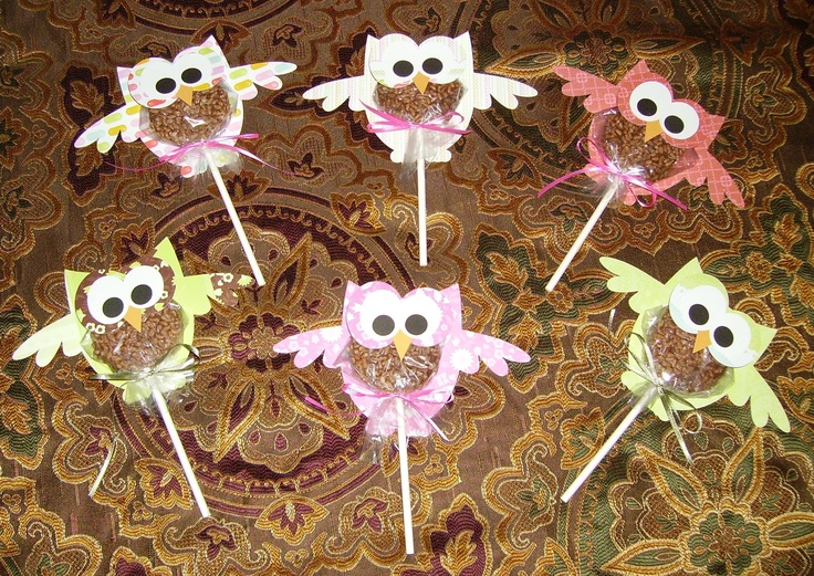 """Thank goodness for Little Debbie!! My daughter and I just made these Baby Shower Favors for a friend of ours. We used Little Debbie Star Crunch treats for the body of the owl. They were a blast to make and we know they'll be a hit because... ""Whooo can resist the scrumptious flavor of Star Crunch Snacks!?!!! ( Owl design by Lori Whitlock )"" -Kristi Faricelli"