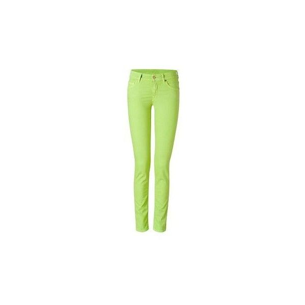 Lime Green Pants ❤ liked on Polyvore featuring pants, green pants and lime green pants