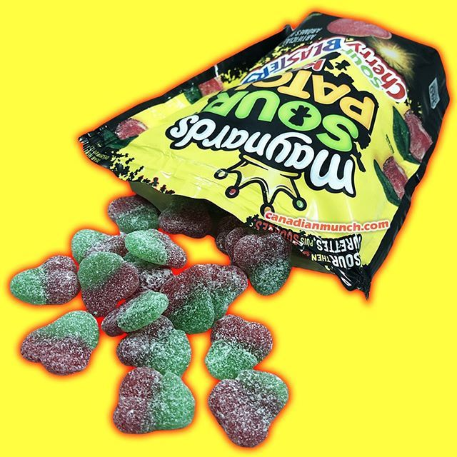 Maynard S Sour Patch Kids Sour Cherry Blasters These And Many More Yummy Treats Coming To Our Store This Frida Sour Patch Kids Canadian Snacks Sour Cherry