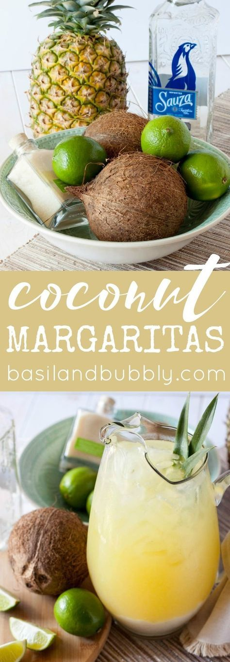 Sponsored by @SauzaTequila, this pitcher of Coconut Pineapple Margaritas is the BEST way to make craft cocktails for a crowd on Cinco de Mayo. #SauzaTequila #sponsored