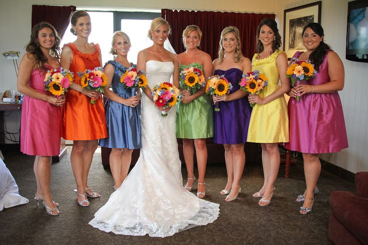 same style bridesmaid dresses different colours - Google Search