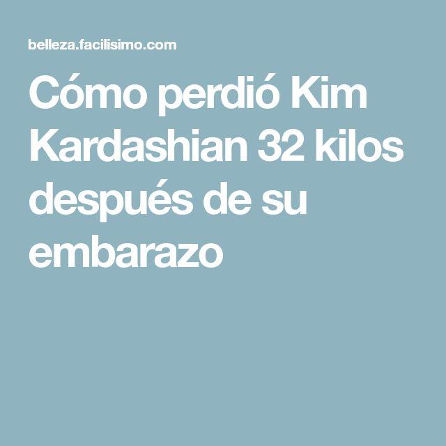 Cómo perdió Kim Kardashian 32 kilos después de su embarazo