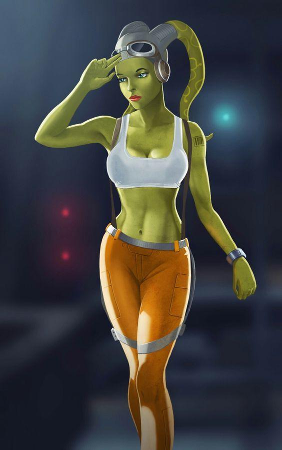 Harmonious little Star wars rebels hera boobs would
