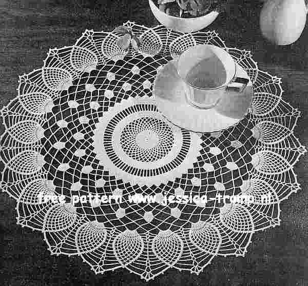 Free+Crochet+Doily+Patterns | Pineapple Sheer doily free vintage crochet doilies patterns