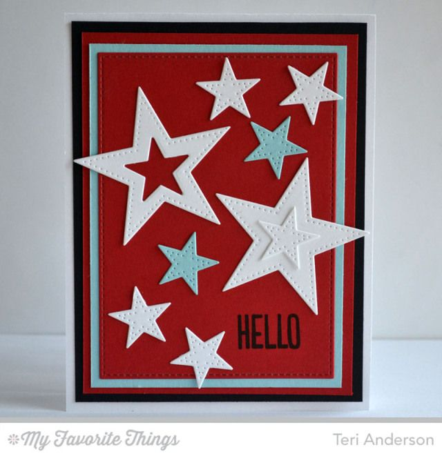 Photo Booth, Pierced Star STAX Die-namics - Teri Anderson #mftstamps